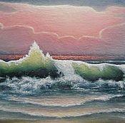 Картина Морской пейзаж Изумрудная волна