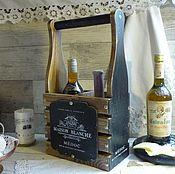 Подставки ручной работы. Ярмарка Мастеров - ручная работа Мини бар, бутылочница ,,France,,.. Handmade.