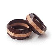Украшения ручной работы. Ярмарка Мастеров - ручная работа Обручальные кольца из дерева граненые. Handmade.