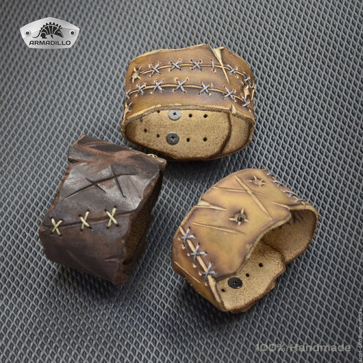 Кожаный браслет Armadillo