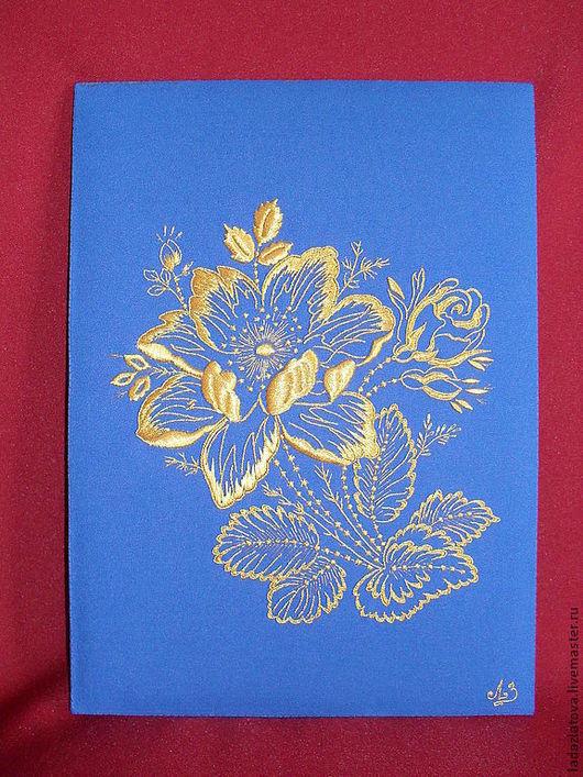 """Интерьерные слова ручной работы. Ярмарка Мастеров - ручная работа. Купить Золотное шитьё  Настенное панно """" Золотое соцветие"""". Handmade."""