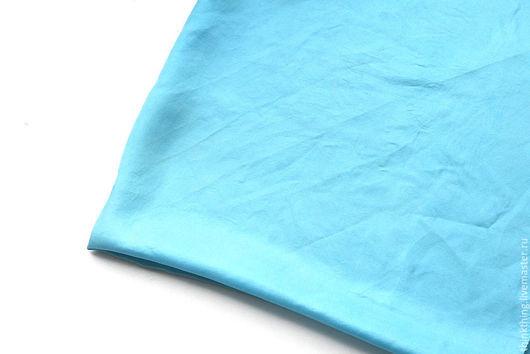 Винтажная одежда и аксессуары. Ярмарка Мастеров - ручная работа. Купить Шелковый платок бирюзового цвета (1980-е). Handmade. платок