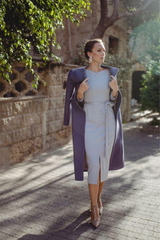 Платья ручной работы. Ярмарка Мастеров - ручная работа. Купить Платье-футляр светло сиреневого цвета. Handmade. Бледно-сиреневый