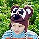 Шапки и шарфы ручной работы. Ярмарка Мастеров - ручная работа. Купить Шапка Мишка теплая. Handmade. Мишка тедди