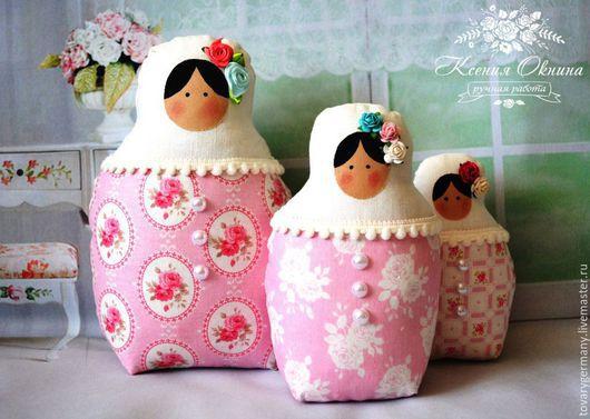 Куклы Тильды ручной работы. Ярмарка Мастеров - ручная работа. Купить Матрешка тильда розовая Ангел фея - подарок в русском стиле. Handmade.