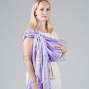 Одежда ручной работы. Ярмарка Мастеров - ручная работа Слинг с кольцами из бамбука. Лиловый туман. Handmade.