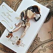 """Украшения ручной работы. Ярмарка Мастеров - ручная работа комплект:брошь """"Сильвия"""",платок. Handmade."""