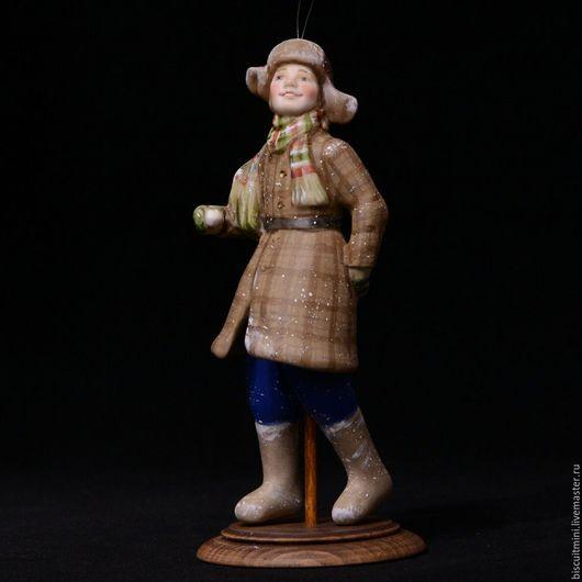 Коллекционные куклы ручной работы. Ярмарка Мастеров - ручная работа. Купить Валерка. Handmade. Комбинированный, подарок, Каркасная проволока
