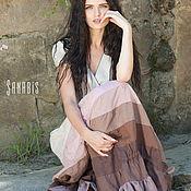 Одежда ручной работы. Ярмарка Мастеров - ручная работа Платье из льна «Время нежности». Handmade.
