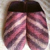 Обувь ручной работы. Ярмарка Мастеров - ручная работа тапочки валяные мужские Шоколадный батончик с начинкой. Handmade.