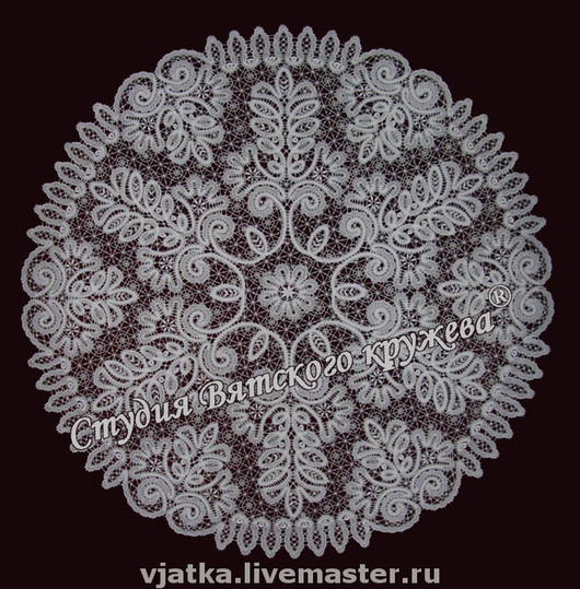 Home Textiles & Carpets handmade. Livemaster - handmade. Buy Lace tablecloth round 'sissy'.Bobbin lace, dining room