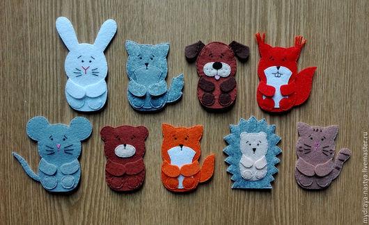 Кукольный театр ручной работы. Ярмарка Мастеров - ручная работа. Купить Игрушки для пальчикового театра. Handmade. Комбинированный, из фетра