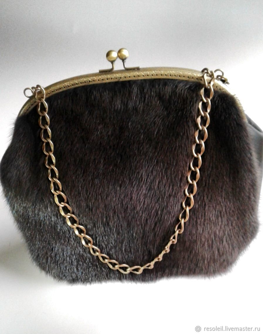 The bag is made of mink fur and leather, Classic Bag, Samara,  Фото №1