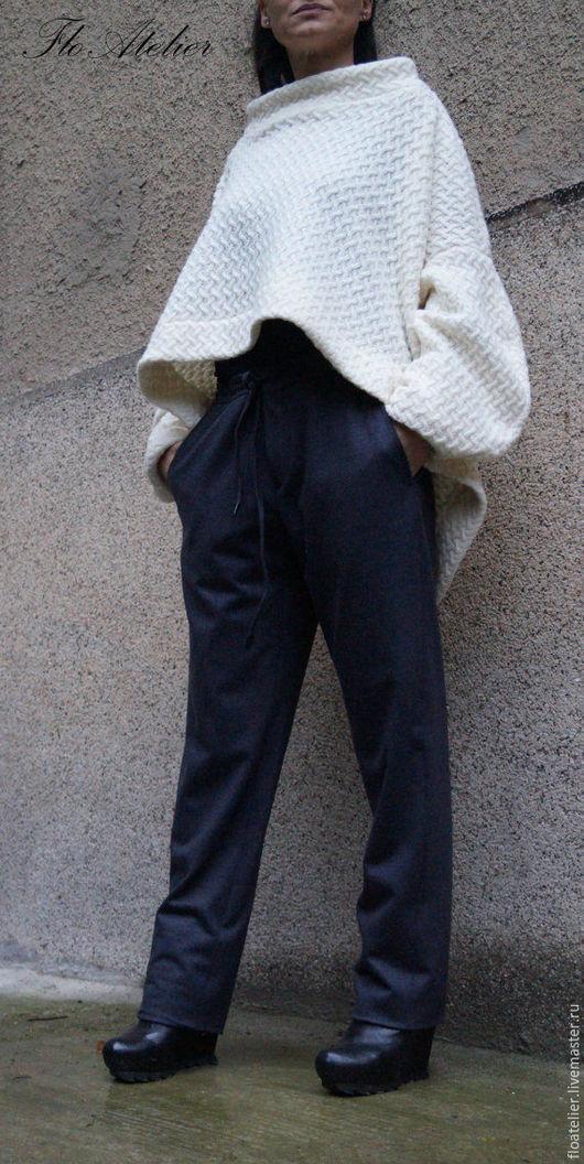 Брюки, шорты ручной работы. Ярмарка Мастеров - ручная работа. Купить Свободные брюки из шерсти/Модные шаровары/ F1507. Handmade. шаровары