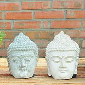 Статуэтки ручной работы. Ярмарка Мастеров - ручная работа Голова Будды из бетона, под бронзу, глину, камень состаренная. Handmade.