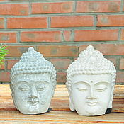 Для дома и интерьера handmade. Livemaster - original item Buddha head made of concrete, bronze, clay, stone aged. Handmade.