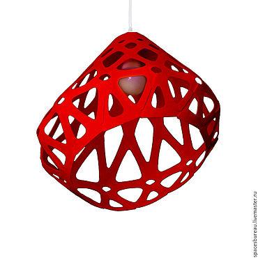 Для дома и интерьера ручной работы. Ярмарка Мастеров - ручная работа ZAHA LIGHT красный потолочный подвесной светильник. Handmade.