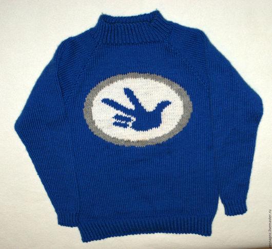 """Одежда унисекс ручной работы. Ярмарка Мастеров - ручная работа. Купить Детский свитер """"Фиксики"""". Handmade. Синий, рисунок, фиксики"""