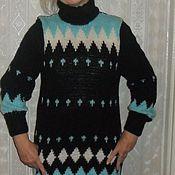 Одежда handmade. Livemaster - original item Dress knit Zigzag Zaccardo. Handmade.