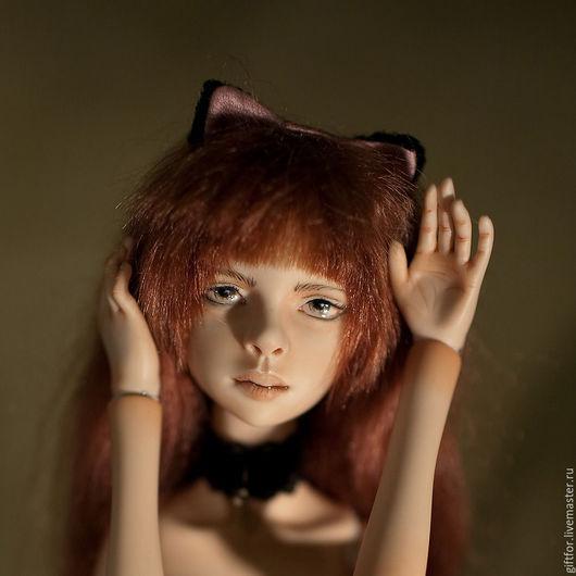 Коллекционные куклы ручной работы. Ярмарка Мастеров - ручная работа. Купить Кэт. Фарфоровая шарнирная кукла. Handmade. Бледно-сиреневый