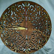 Для дома и интерьера handmade. Livemaster - original item Carved colored wall clock. Handmade.