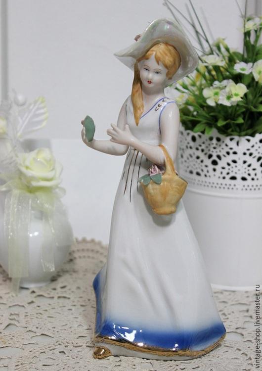 """Винтажные предметы интерьера. Ярмарка Мастеров - ручная работа. Купить Фарфоровая статуэтка """"Эльза"""", винтаж, 1960-е г.г.. Handmade."""