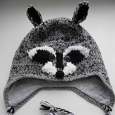 Clothing handmade. Livemaster - original item Hat Raccoon hat Creative Youth. Handmade.