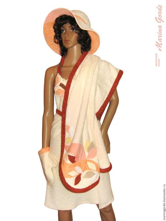 банные принадлежности, шапки баня, шапка для бани, банные шапки, шапка для сауны, женские махровые, Marina Gorde