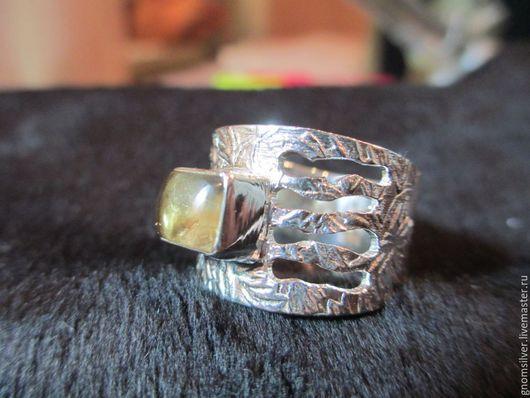 Кольца ручной работы. Ярмарка Мастеров - ручная работа. Купить Авторское кольцо с лимонно-желтым цитрином из Шри-Ланки. Handmade.