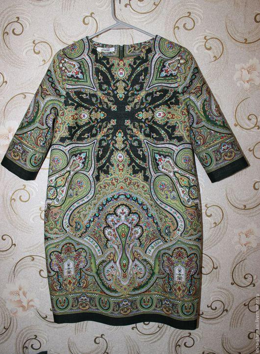 Платья ручной работы. Ярмарка Мастеров - ручная работа. Купить Платье Испанское зеленое О-силуэта. Handmade. Оливковый