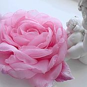 Украшения handmade. Livemaster - original item FABRIC FLOWERS. Chiffon rose brooch