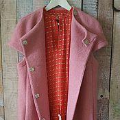 Одежда ручной работы. Ярмарка Мастеров - ручная работа Жилет розовый.. Handmade.