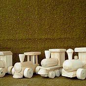 Паровозики, деревянные заготовки