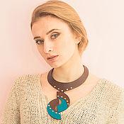 Украшения handmade. Livemaster - original item Necklace made of genuine leather Caron.. Handmade.
