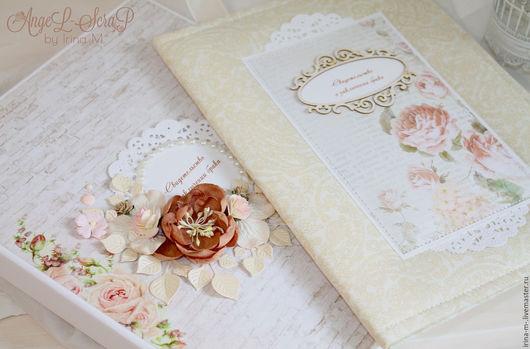 Подарки на свадьбу ручной работы. Ярмарка Мастеров - ручная работа. Купить Свадебный комплект: папка для свидетельства и короб для хранения. Handmade.