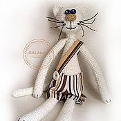Куклы и игрушки ручной работы. Ярмарка Мастеров - ручная работа Вязаная игрушка. Белый Кот.. Handmade.