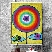 Фен-шуй и эзотерика handmade. Livemaster - original item Third eye - 60*80 cm. Handmade.