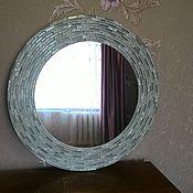 Для дома и интерьера ручной работы. Ярмарка Мастеров - ручная работа Зеркало в мозаичной раме, мятная свежесть. Handmade.