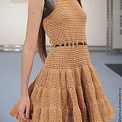 Одежда ручной работы. Ярмарка Мастеров - ручная работа Летнее платье, вязаное крючком. Handmade.