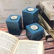 Для дома и интерьера handmade. Livemaster - original item Candle holders from plaster