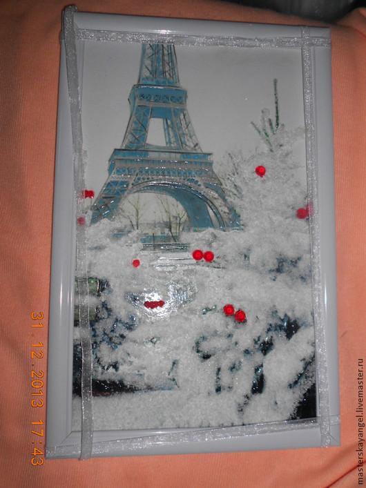 Город ручной работы. Ярмарка Мастеров - ручная работа. Купить Ах.... Париж ............ Handmade. Белый, чёрно-белый, лак