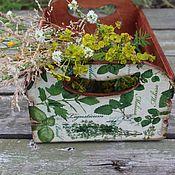 Для дома и интерьера ручной работы. Ярмарка Мастеров - ручная работа ящик для овощей зелень травы лето. Handmade.