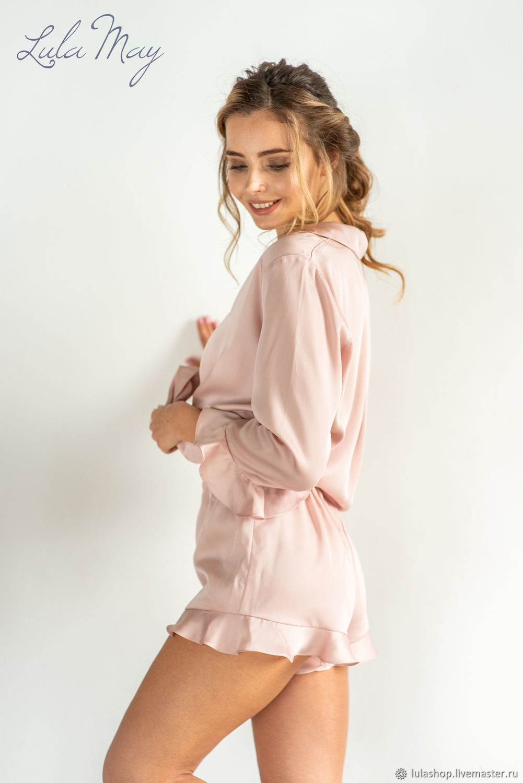 Pajamas for women 'Love' with shorts from tencel lyocella, Pyjamas, Moscow,  Фото №1