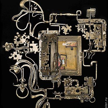 Картины и панно ручной работы. Ярмарка Мастеров - ручная работа Панно кованое Креативное время. Handmade.