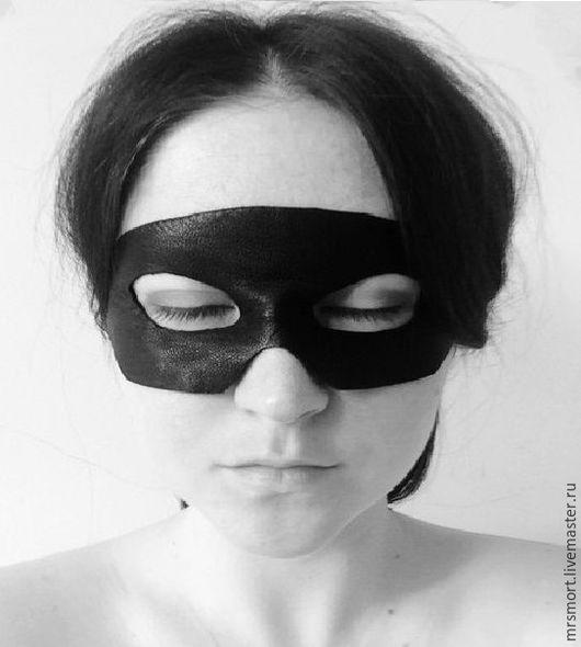 """Очки ручной работы. Ярмарка Мастеров - ручная работа. Купить """"Зорро"""" маска, тема. Handmade. Черный, маскарад, кожа натуральная"""