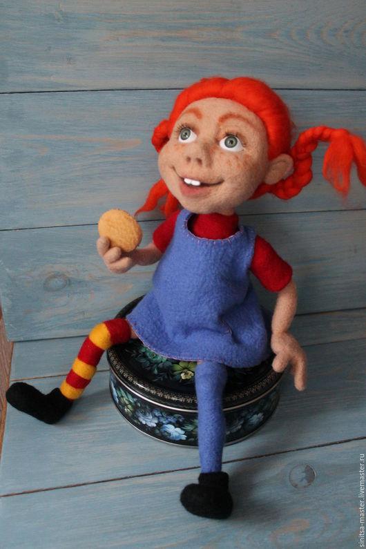 Коллекционные куклы ручной работы. Ярмарка Мастеров - ручная работа. Купить Пеппи Длинный чулок. Handmade. Рыжий, авторская кукла