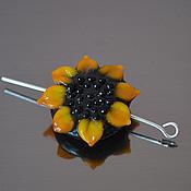 Бусины ручной работы. Ярмарка Мастеров - ручная работа Бусина Цветок крупный лампворк лэмпворк, подсолнух. Handmade.