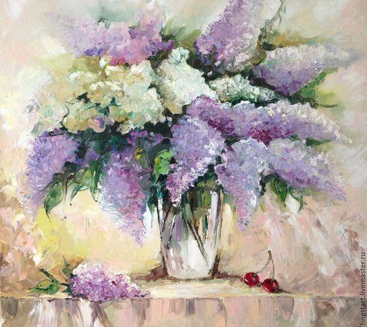 Картина масло Сирень Картина маслом в подарок Картина маслом цветы