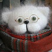 """Куклы и игрушки ручной работы. Ярмарка Мастеров - ручная работа кот """" сНежный"""". Handmade."""