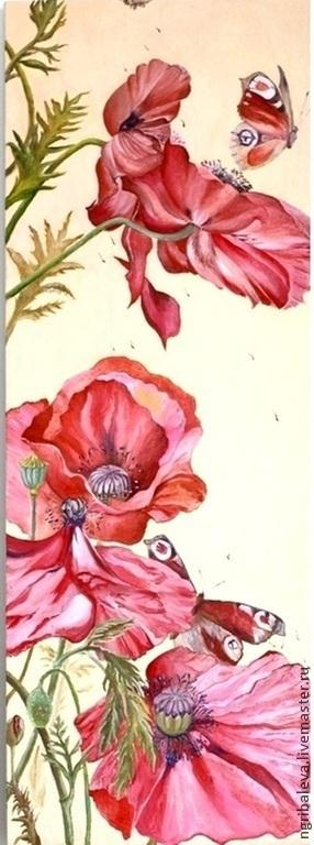 Картины цветов ручной работы. Ярмарка Мастеров - ручная работа. Купить Картина маслом Конец лета 40на30 см. Handmade.